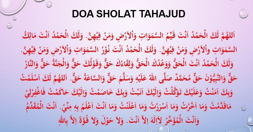 Doa Sholat Tahajud Bahasa Beserta Artinya - Harian Madrasah