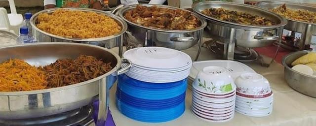 Catering jamuan makan di acara pernikahan