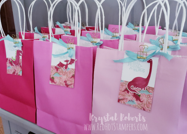 Stampin' Up! Dinoroar Party Goody Bags