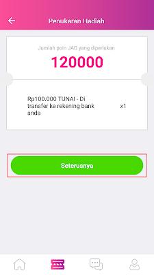 cara menukarkan uang gratis dari aplikasi jag android