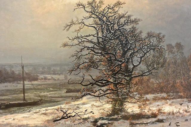 Peinture norvégienne Oslo National galleriet : Christian Dahl : le vieux chêne peintre romantique