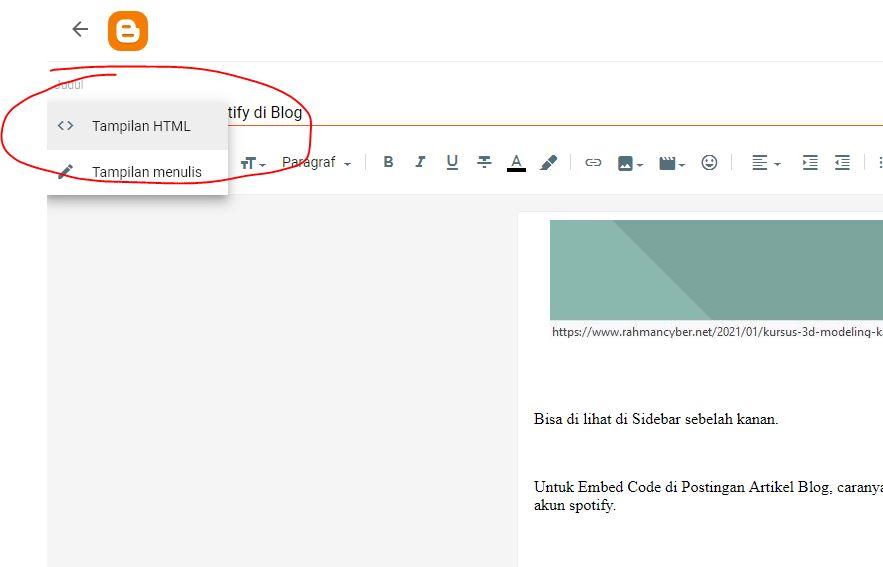 ubah tampilan ke html