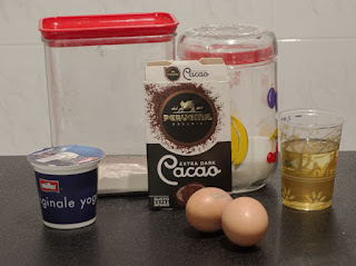 ingredienti plumcake al cacao casalingo