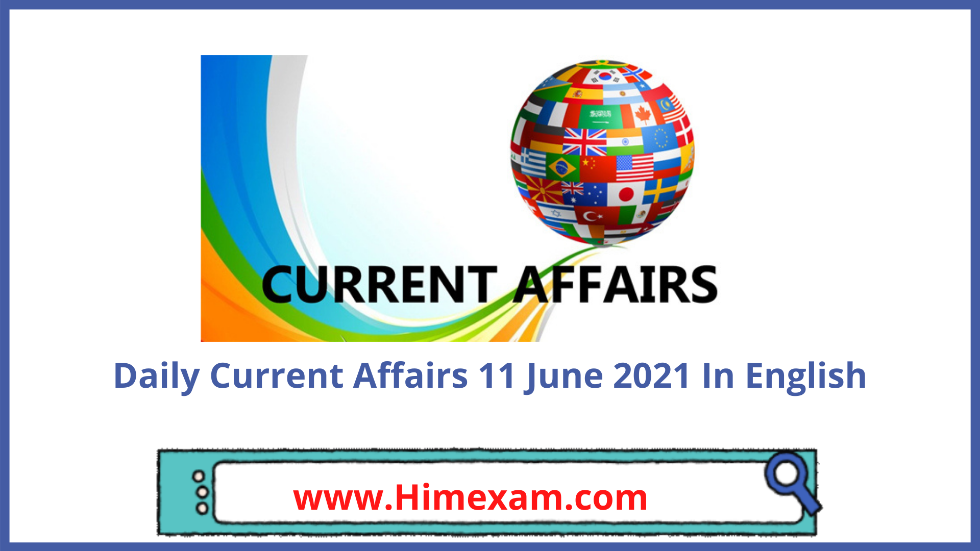 Daily Current Affairs 11 June 2021 In English