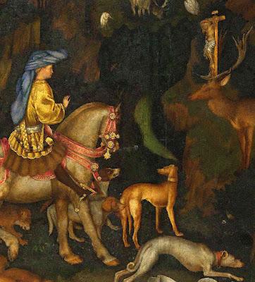 Santo Eustáquio, Antonio Pisanello (1395 — 1455), National Gallery, Londres
