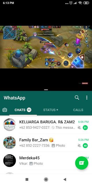 Buka Dua Aplikasi Dalam Waktu Bersamaan di Android