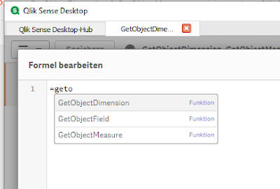 Die GetObject* Funktionen in der Qlik Auto Completion