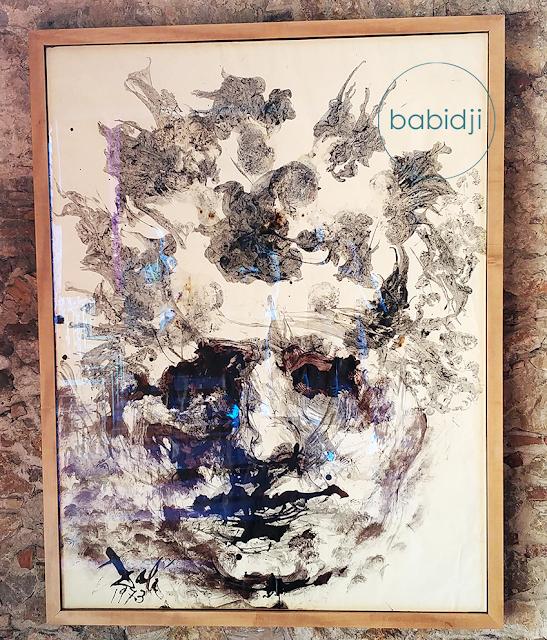 portrait de Beethoven à l'encre noire peint par Dali