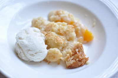 This Mommy Cooks Sweet Treat Tuesday Easy Peach Cobbler Cake