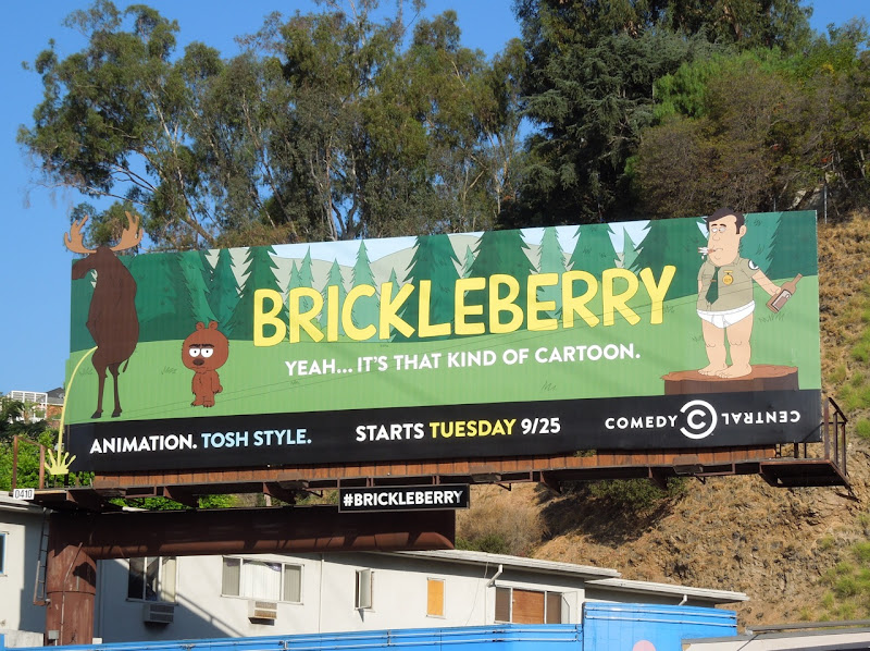 Brickleberry Comedy Central billboard