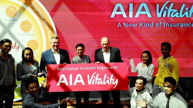 Pelancaran AIA Vitality, Anusha Thavarajah, Bill Lisle, Mark Tucker,