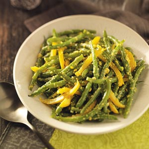 RecipeReview Green Beans In Yellow Pepper Sauce