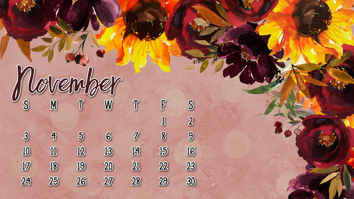 Free Fall Desktop Calendar