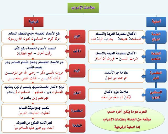 """انفراد.... كل قواعد اللغة العربية لطلاب """"ابتدائي - اعدادي - ثانوي"""" في صورة لوحات مبسطة مع الشرح والتدريبات 36"""