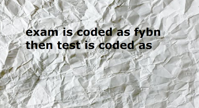 exam is coded as fybn then test is coded as