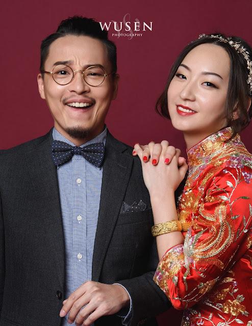 中式禮服龍鳳褂,中式婚紗照