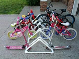 Ideas con tubos de PVC - estacionamiento de bicicletas