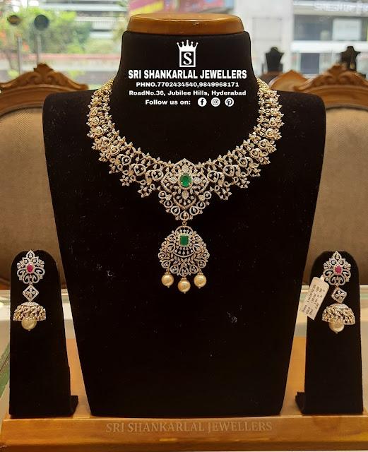 Floral Diamond Set Jhumkas