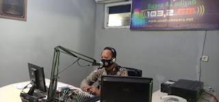 Lewat Radio, Sat Lantas Polres Wajo Gencarkan Sosialisasi Larangan Mudik