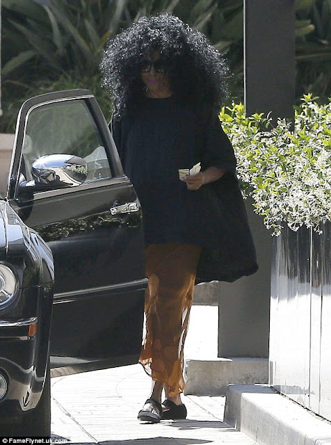 Diana Ross debuts oversized hair for shopping trip in Beverly Hills