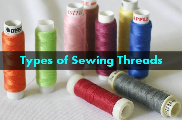 Different types of sewing threads