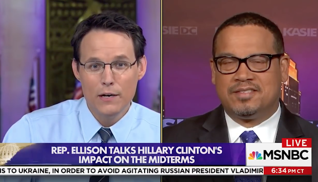 CLINTON CHAOS: Ellison Won't Say if He Wants Hillary Campaigning for Democrats: 'We're Not … Talking Bad About Anybody'