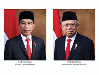 Foto Resmi Presiden dan Wakil Presiden Rl periode 2019-2024