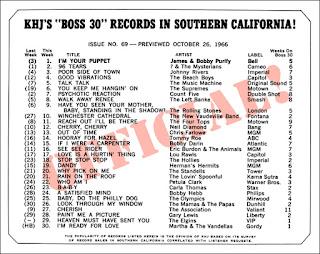 KHJ Boss 30 No. 69 - October 26, 1966