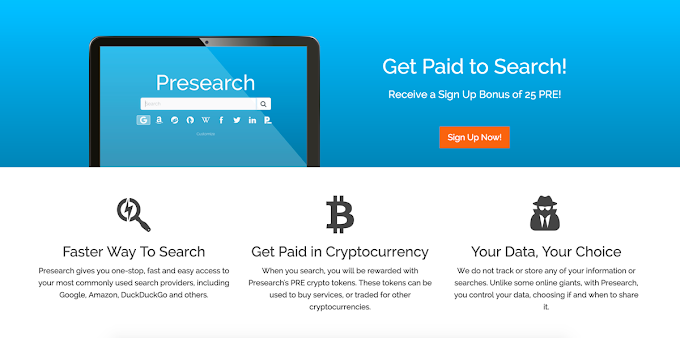 Presearch: Get Paid To Search On The Next Generation Of Search Engine