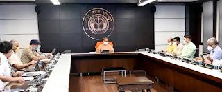 मुख्यमंत्री योगी ने प्रदेश में कोविड संक्रमण से बचाव एवं उपचार की व्यवस्था को प्रभावी ढंग से जारी रखने के निर्देश दिये Chief Minister Yogi gave instructions to effectively continue the system of prevention and treatment of Covid infection in the state. HINDI NEWS