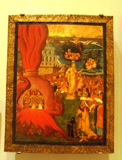 το έργο Η Ιστορία των Τριών Παίδων και του Δανιήλ του Κωνσταντίνου Αδριανουπολίτη  στο Μουσείο Μπενάκη