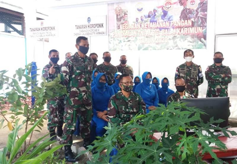 Kasal Melalui Vicon Gelar Panen Raya Ketahanan Pangan dan Pencanangan Kampung Bahari Nusantara