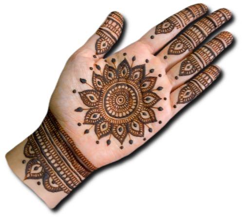 Simple Mehndi Design for Dulhan