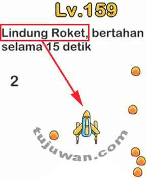 Jawaban Level 159 Brain Out Lindungi Roket Bertahan Selama 15 Detik