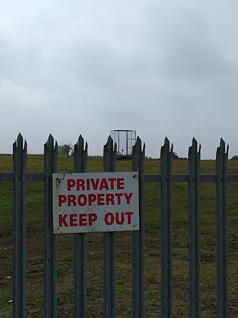 Landfill, The Land South of Coldhams Lane, Cambrdge, Psychogeography, Private Keep Out
