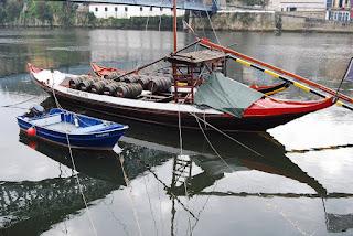 une des barques qui transportait le vin Porto