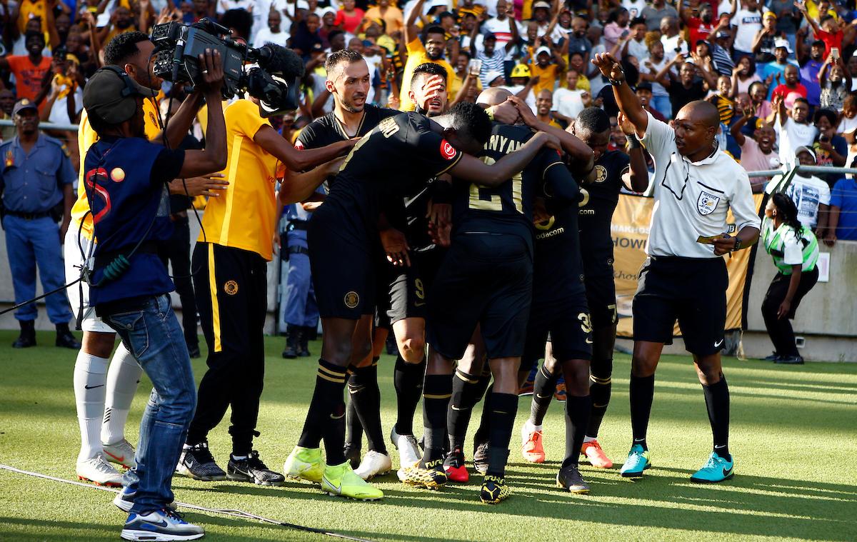 Kaizer Chiefs players celebrating against Golden Arrows