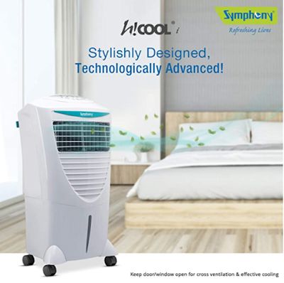 Symphony Hi Cool i Modern Personal Room Air Cooler for Peace of Mind During Harsh Summer