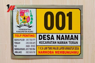 Nomor rumah alumunium jakarta