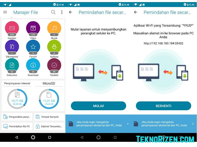 Cara Transfer File dari Zenfone Max Pro M2 ke PC / Laptop Tanpa Kabel