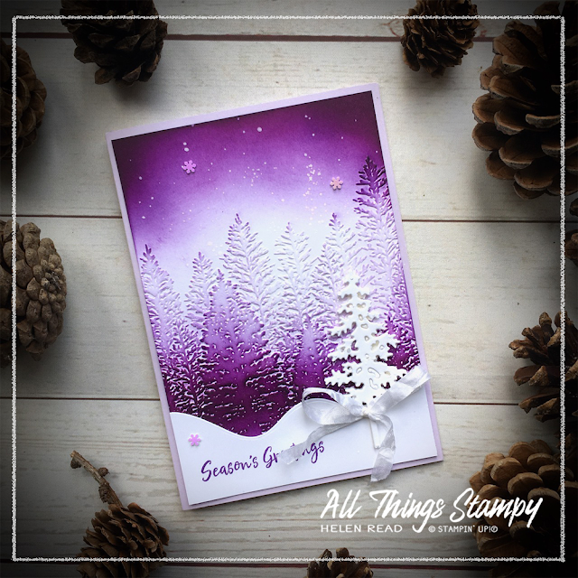 Evergreen Forest Embossing Folder Stampin Up