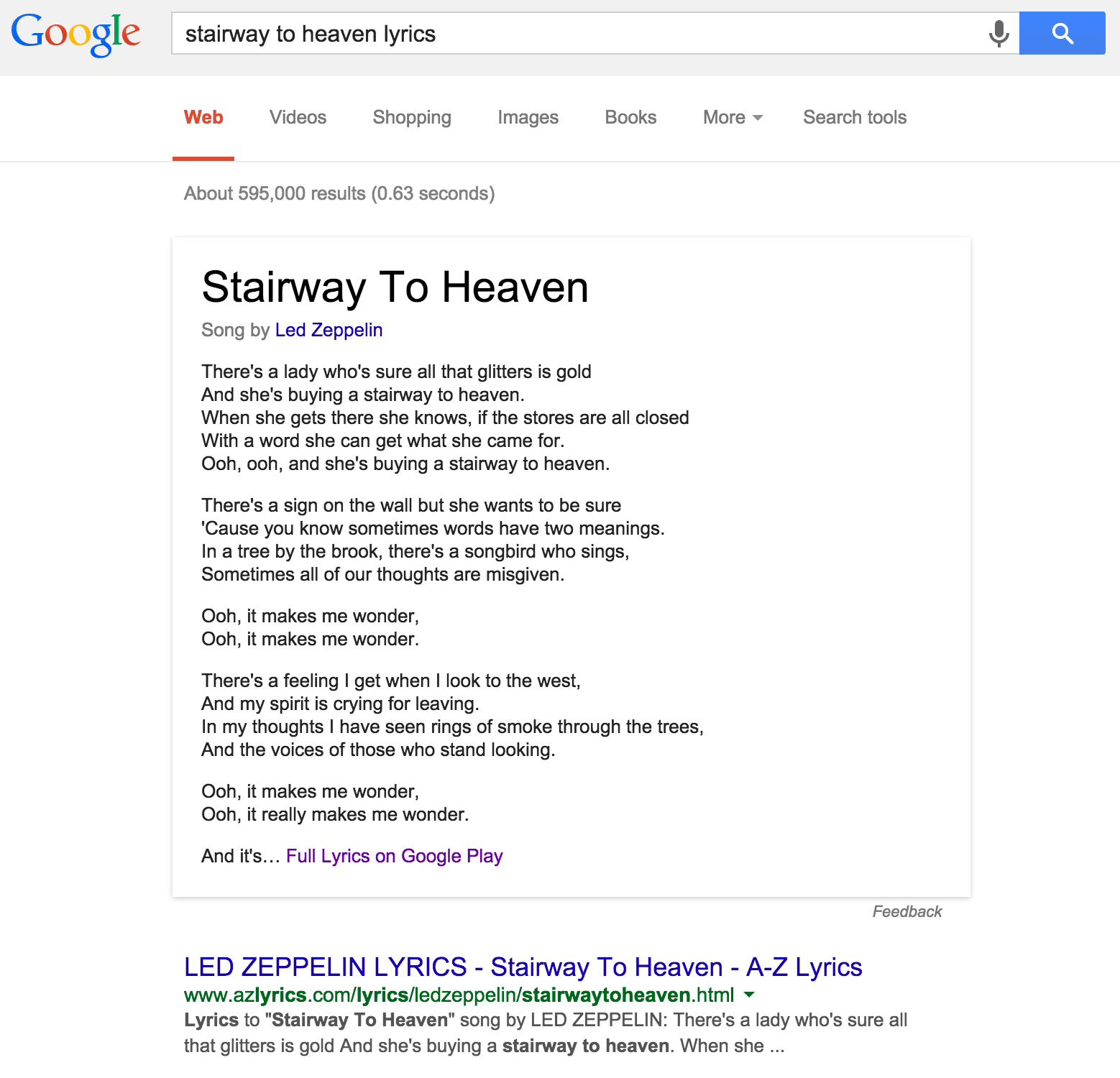 Stairway to heaven lyrics - Led Zeppelin