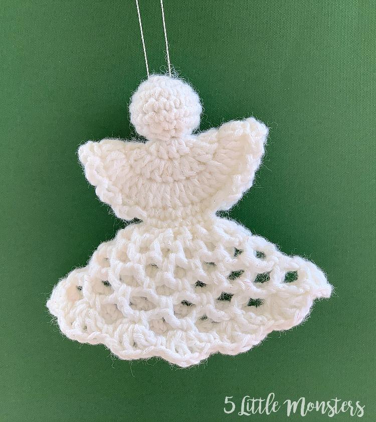 Crochet Christmas angel white crochet angel Christmas tree decoration Christmas decorations