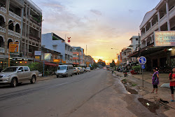 Highway 13 Main Street in Pakse