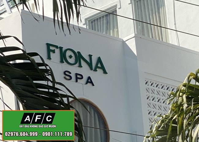 Làm bảng hiệu Mica Chữ nổi Fiona Spa Phú Quốc