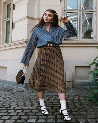 outfits vintage midi skirts