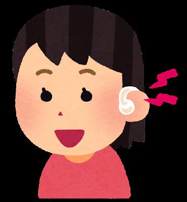 補聴器を付けた子供のイラスト(女の子)