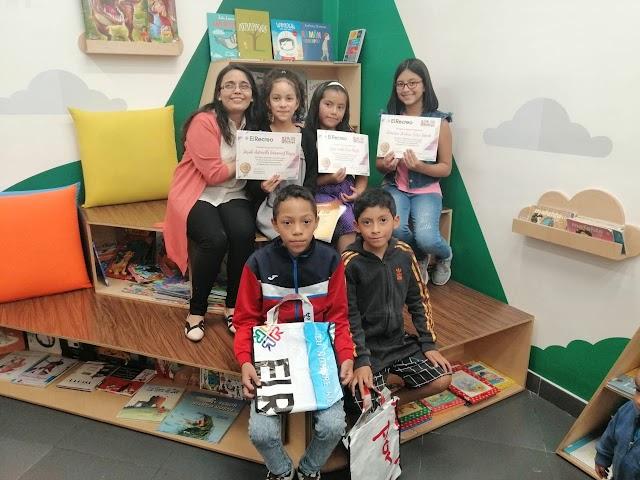El Recreo reconoció la creatividad de tres pequeñas escritoras