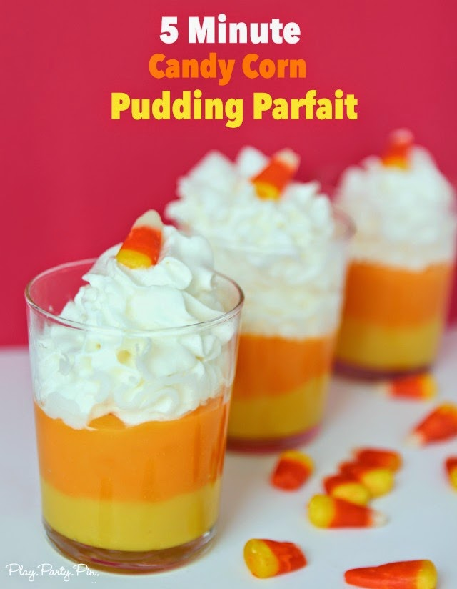 5 minute candy corn pudding cups the perfect fall dessert that can be made in - Pudding Halloween Desserts