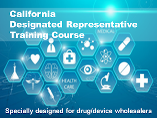 California Designated Representative Training Course For Wholesalers. Earns a training affidavit accepted by the California State Board of Pharmacy.